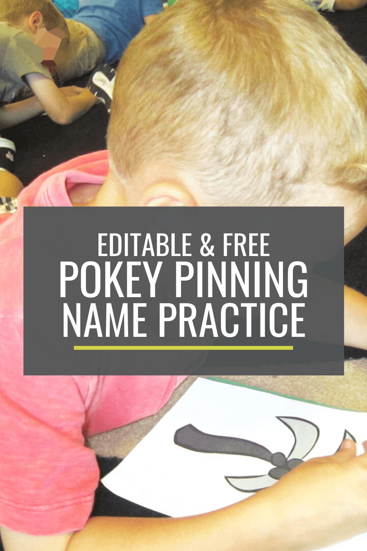 Free Pokey Pinning Name Practice Activity