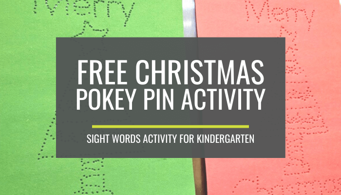 Free Christmas Pokey Pinning Activity for Sight Words