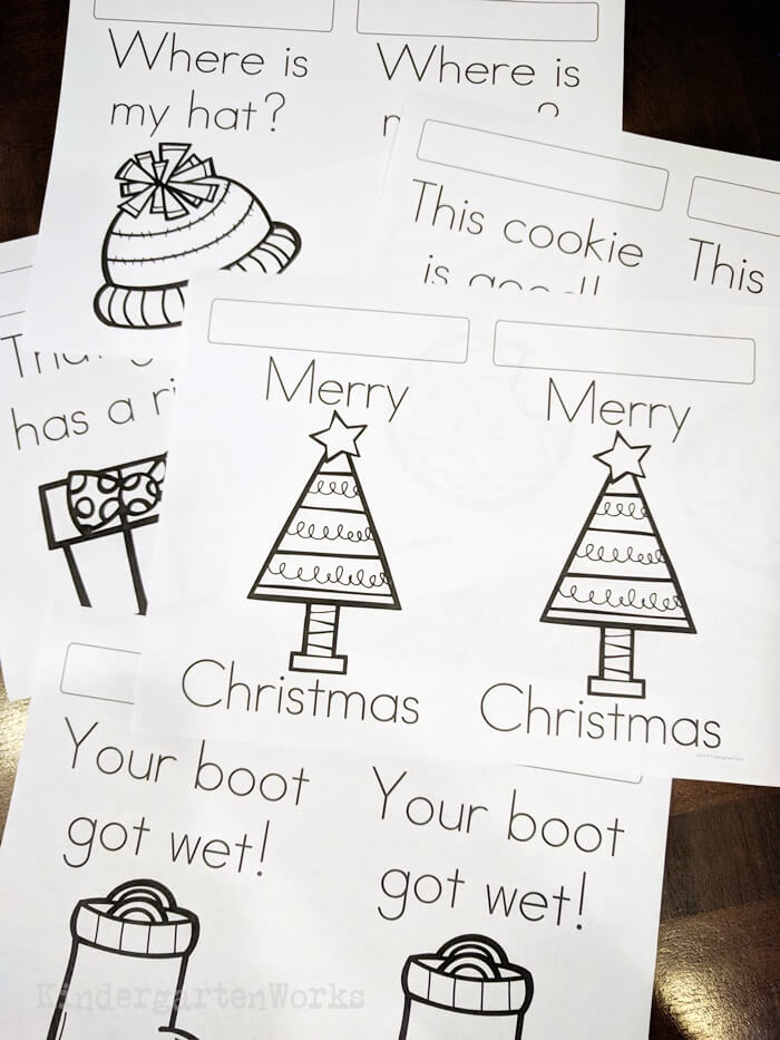Free Christmas Pokey Pinning Activity - Sight Words