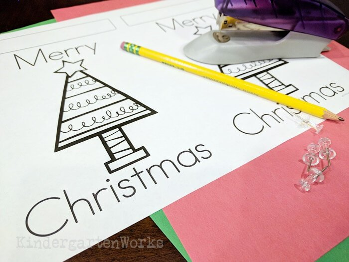 Free Christmas Pokey Pinning Activity for Sight Words - materials needed