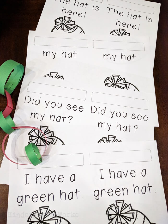 Free Christmas Pokey Pinning Activity with sight words
