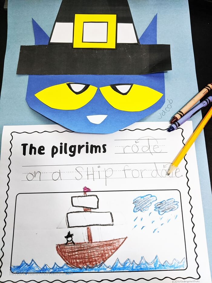 How to Make Pilgrim Pete the Cat: a Thanksgiving Craftivity