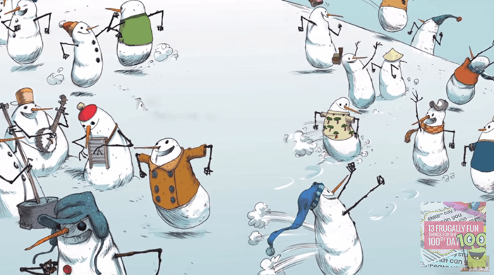 100 Snowmen Book Read Aloud for 100th Day