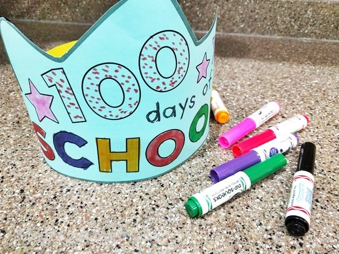 100th Day of School Color Your Own Headband