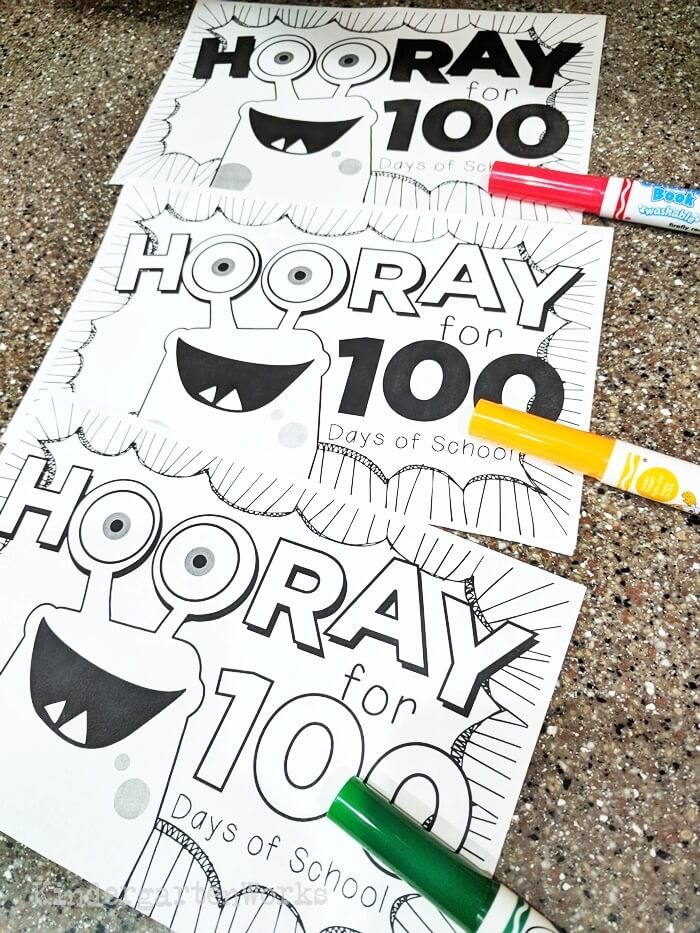 100th Day of School - Easy Emergent Reader