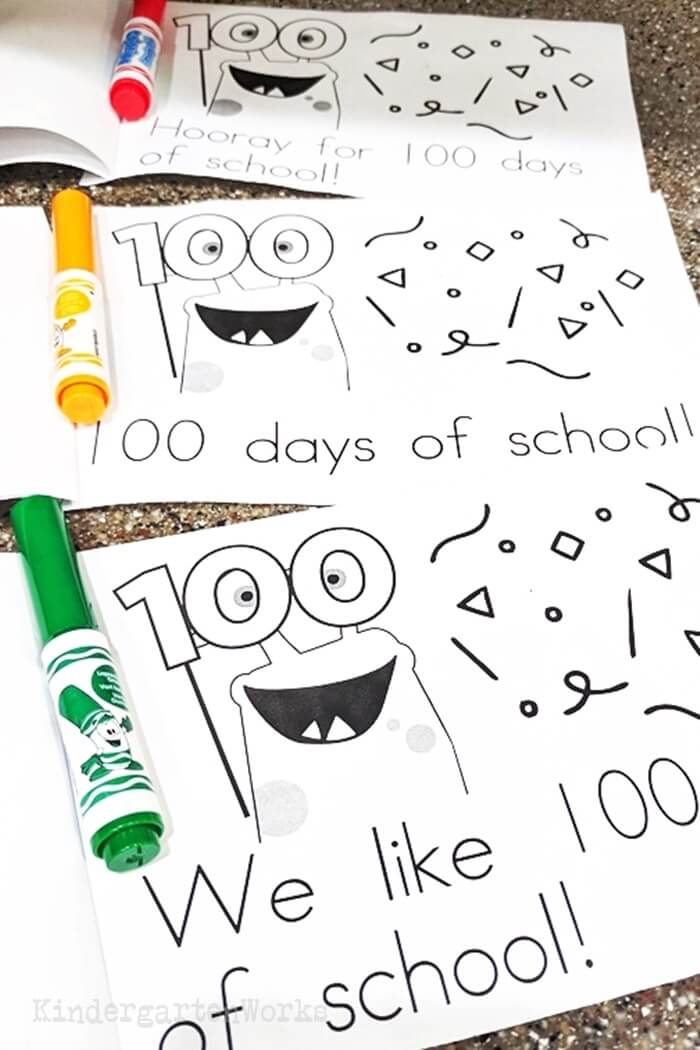 100th Day of School Take Home Books for Kindergarten