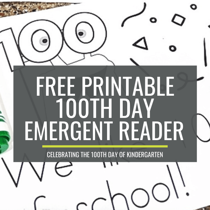 100th day emergent readers for kindergarten