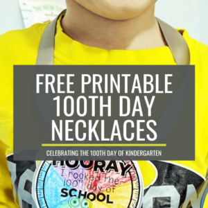 100th day necklaces for Kindergarten