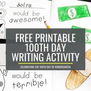 100th day writing books for kindergarten