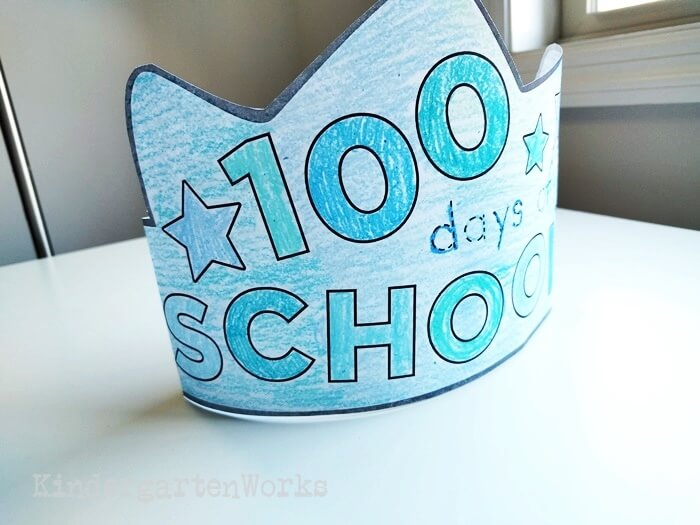 Color Your Own 100 Days of School Crown
