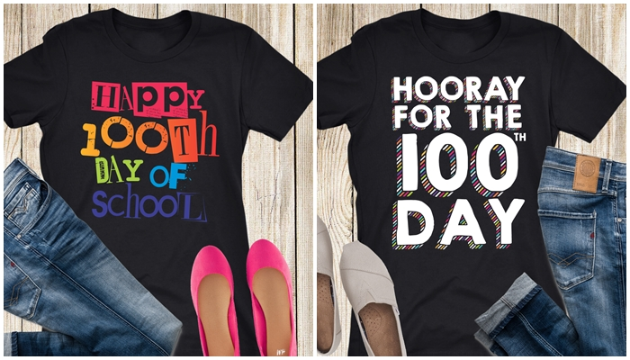 Cuter teacher tshirts for 100th day of school