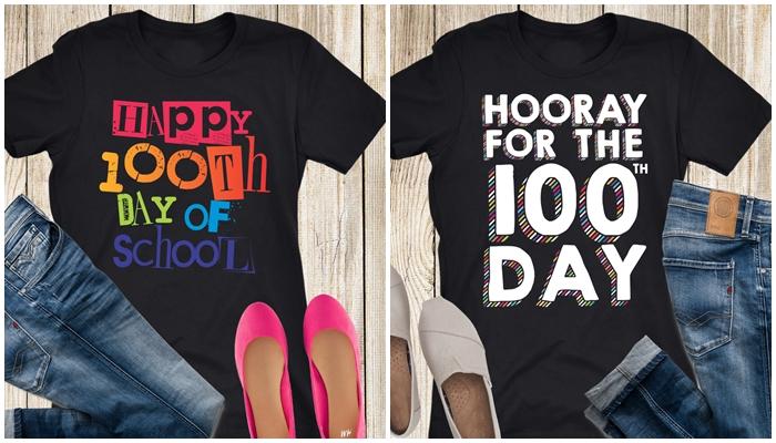 Cuter teacher tshirts for 100th day of school