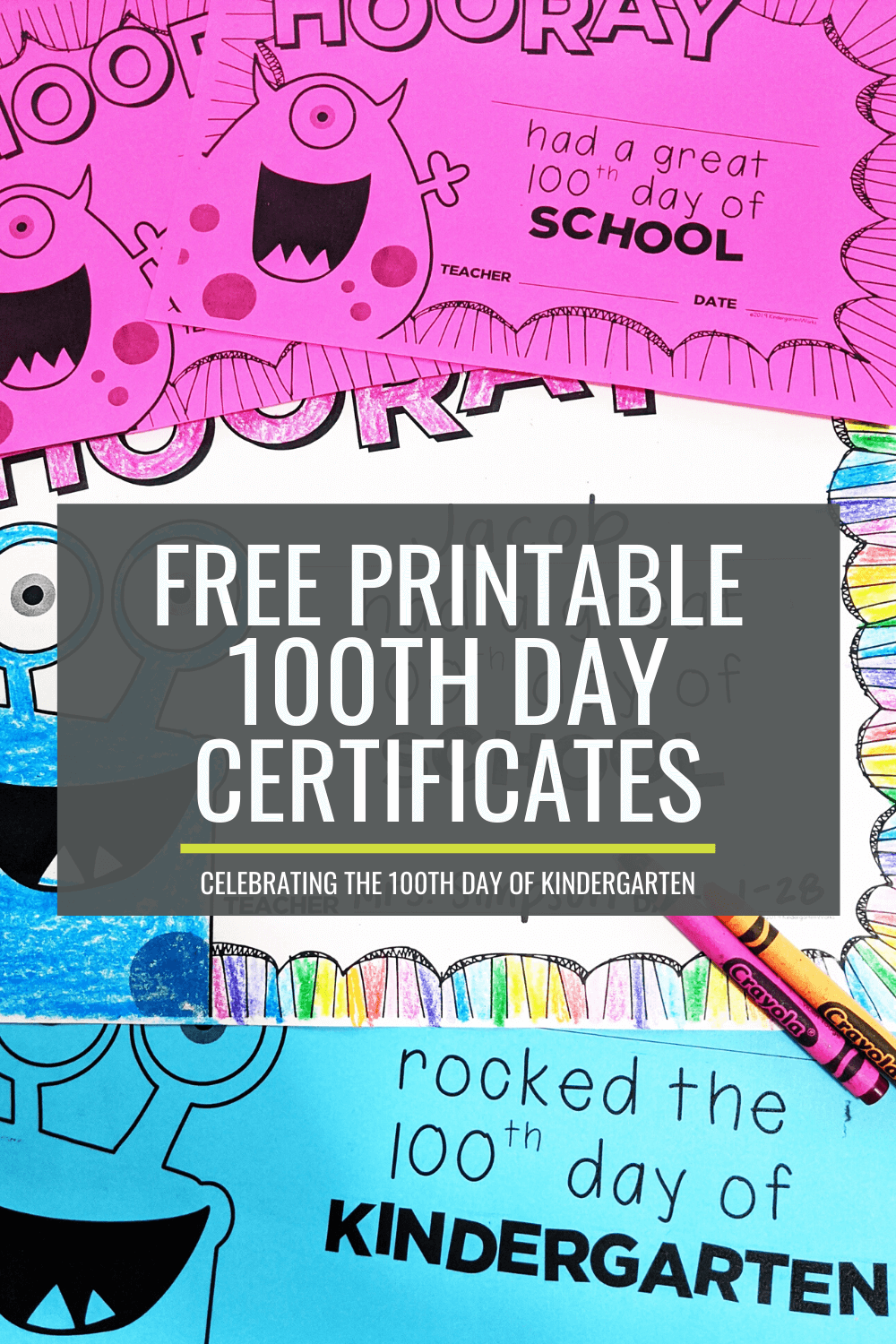 Easy 100th Day of School Certificates