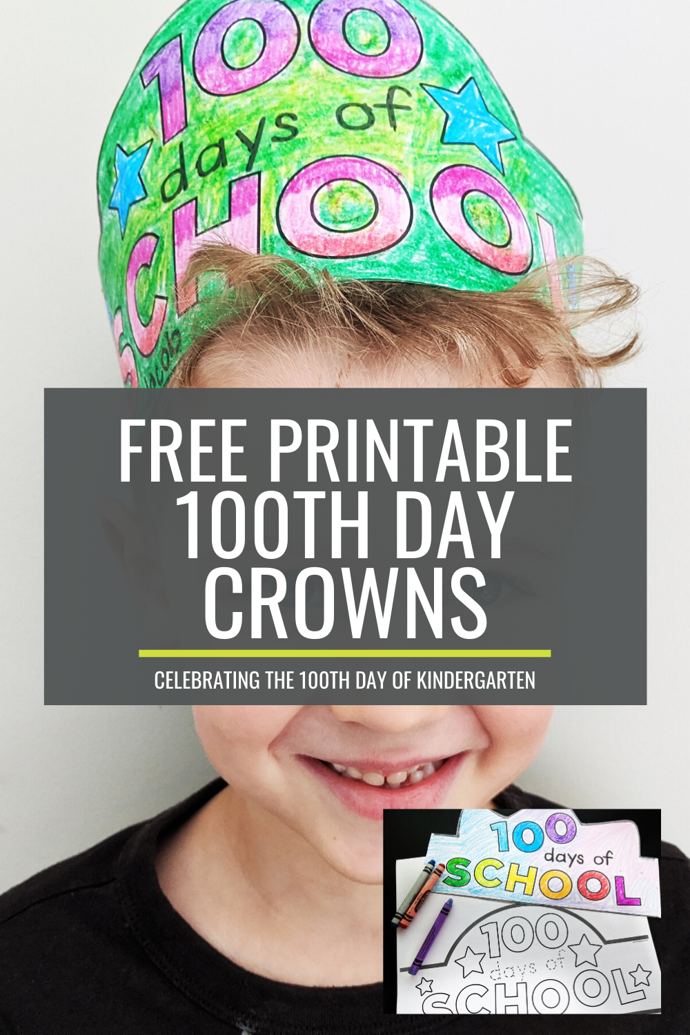 Free 100th Day of School Headband Crowns