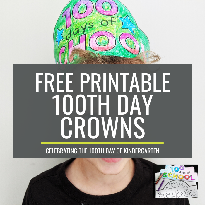 100th day crowns for kindergarten