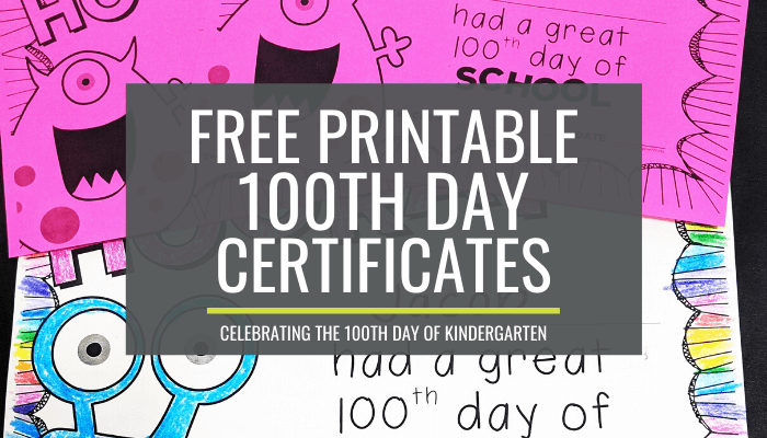 100th day certificates