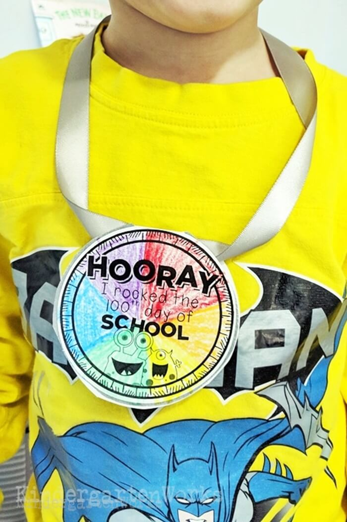 Free Printable 100th Day of School Necklaces