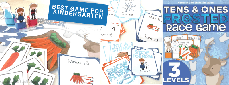 Frozen Game for Kindergarten Composing Tens and Ones