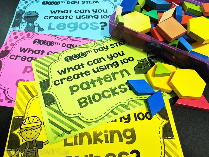 STEM Challenge Cards for 100th Day of School