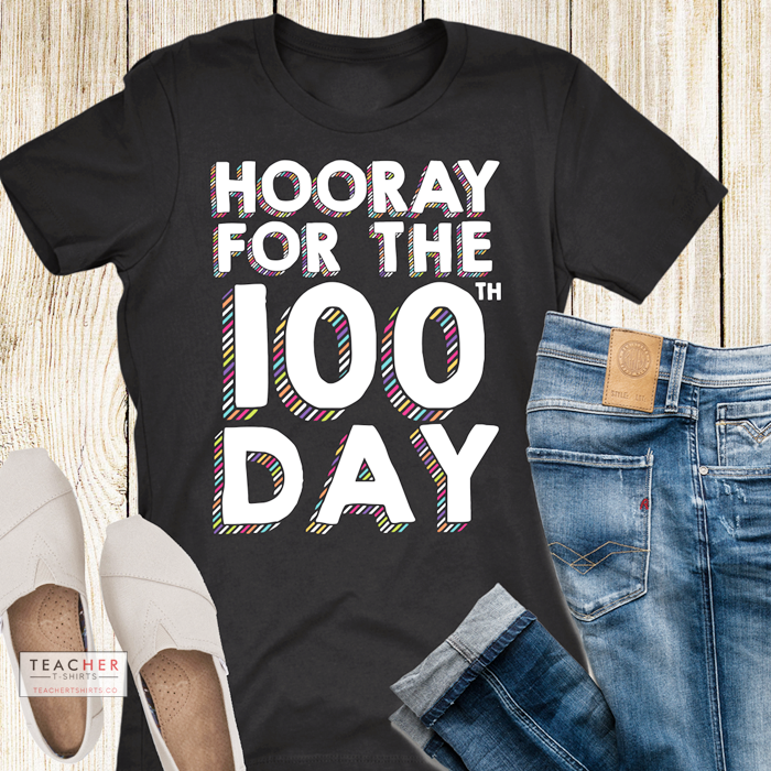 Cute 100th Day of School tshirt for teachers