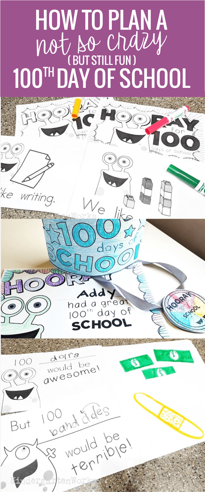 how to plan a not so crazy 100th day of school