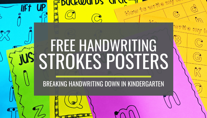 Breaking Handwriting Down - Free Handwriting Strokes Posters