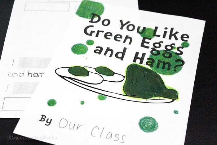 Class Book for Kindergarten Tasting of Green Eggs and Ham