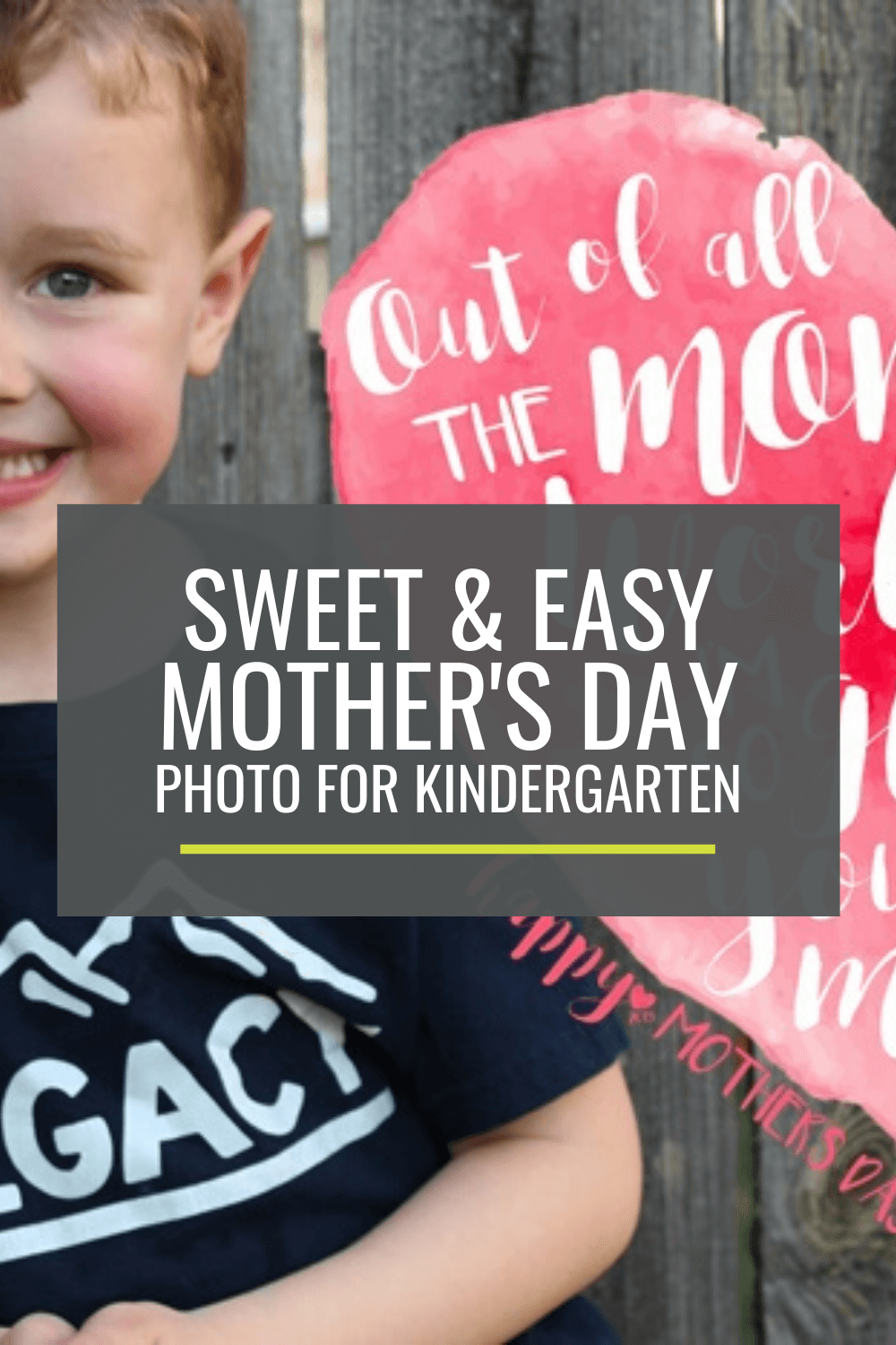 Sweet and Easy Mother\'s Day Photos for Kindergarten Gifts