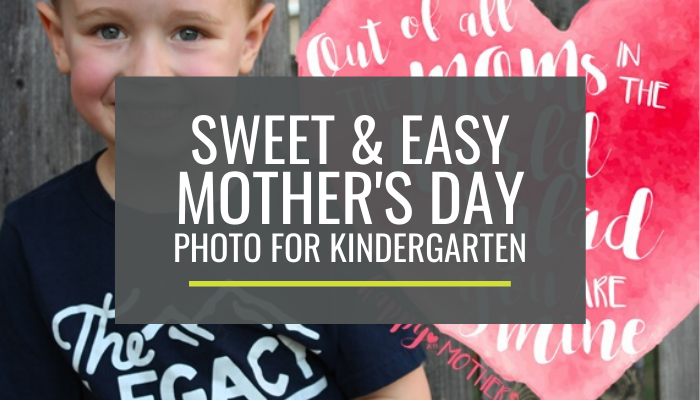 Free Mother's Day Photo Gift for Kindergarten