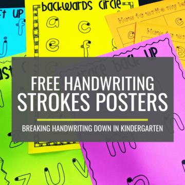 Handwriting - Free Handwriting Strokes Posters