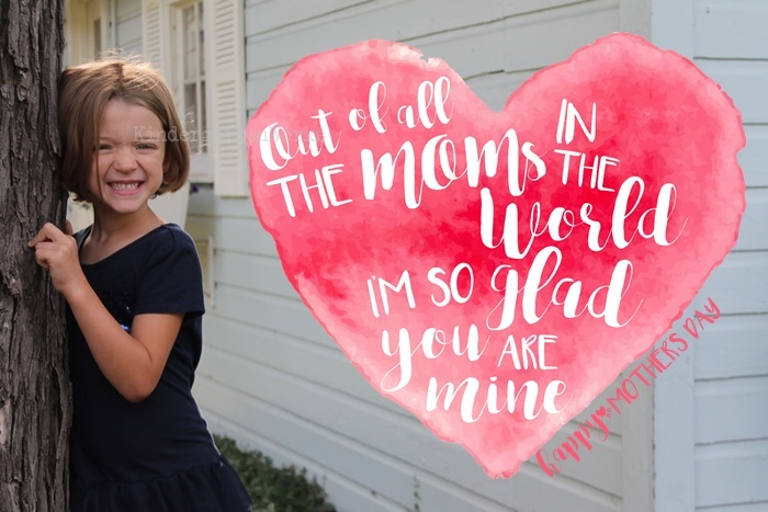 Sweet Mother's Day OVerlay (Free) for Kindergarten