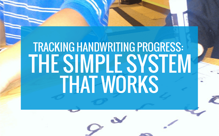 Tracking Handwriting - The Simple System that Works