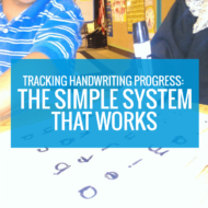 Tracking Handwriting in Kindergarten - The Simple System that Works