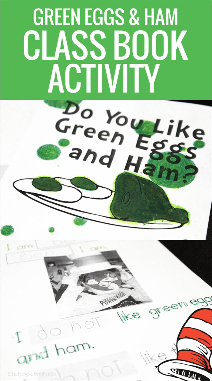 class book for eating green eggs and ham