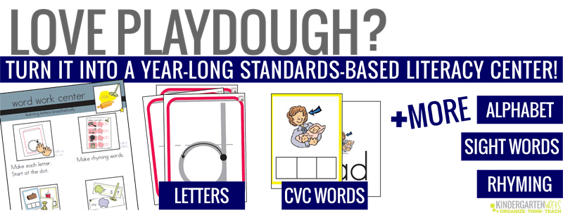 Playdough Word Work Pack