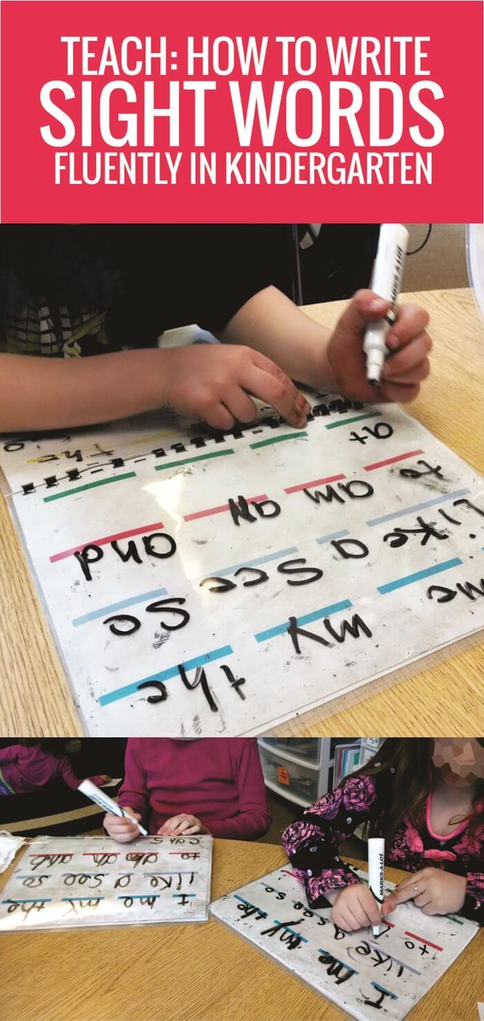 Teach How to Write Sight Words Fluently in Kindergarten