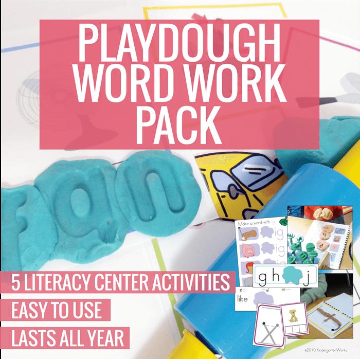 playdough literacy center for kindergarten
