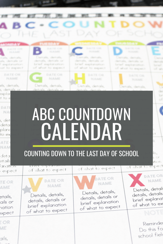 Make Your Own ABC Countdown Calendar
