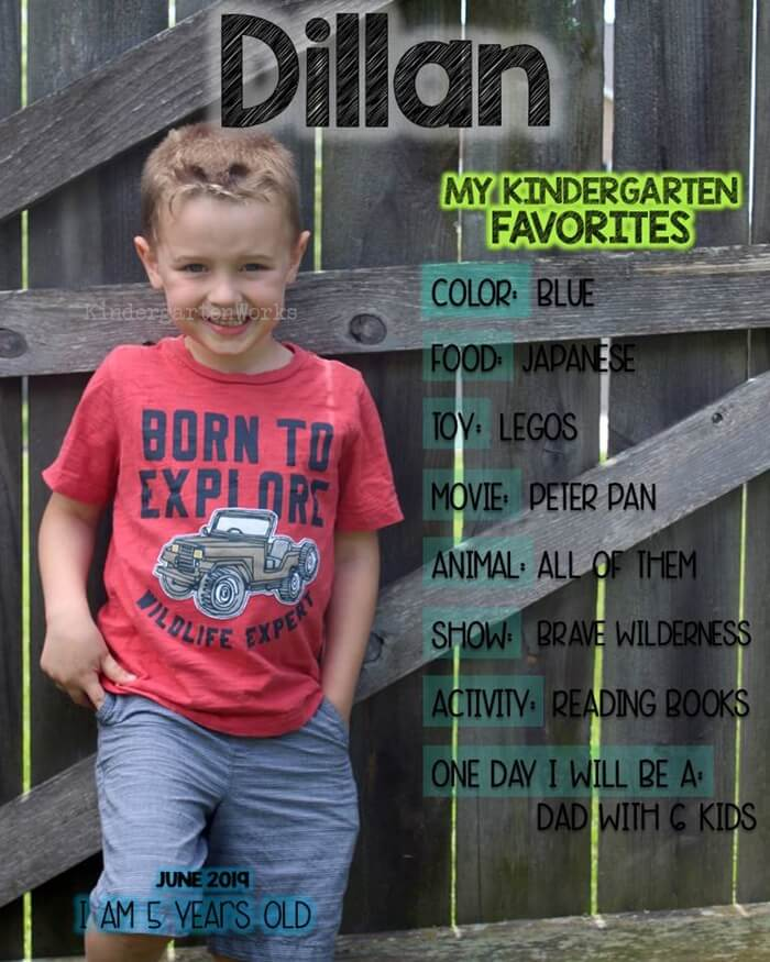 Free End of the Year Favorites Overlay for Kindergarten