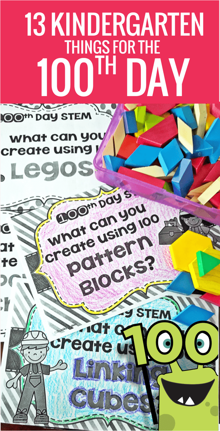 Free learning activities, printables that are fun and a few books with video previews for the 100th day of school in kindergarten.