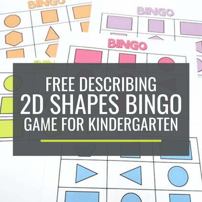 graphic regarding Shape Bingo Printable identified as Cost-free Outlining 2D Styles Bingo Video game for Kindergarten