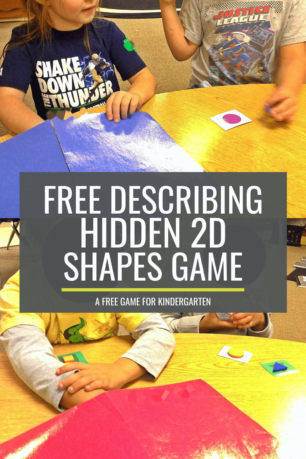 Free Describing Hidden 2D Shapes Game for Kindergarten
