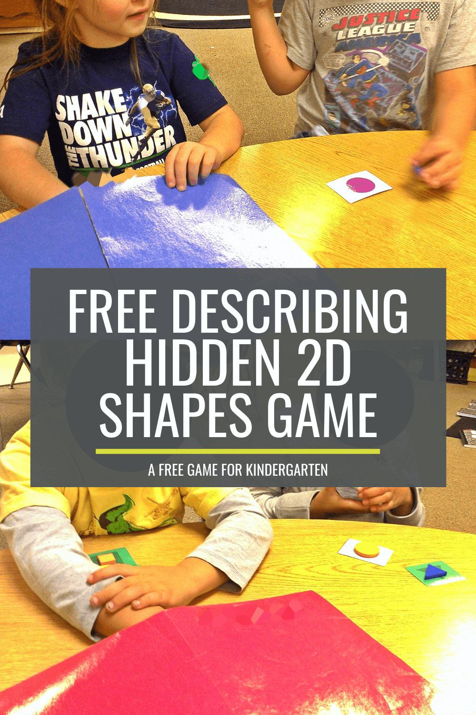 Simple Describing Hidden 2D Shapes Game for Kindergarten