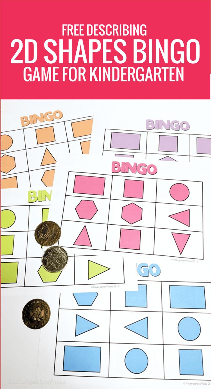 photograph regarding Shape Bingo Printable identify No cost Conveying 2D Designs Bingo Video game for Kindergarten