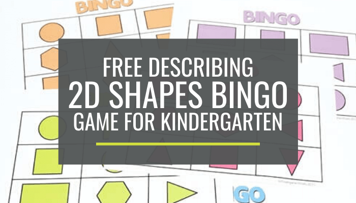 graphic relating to Shape Bingo Printable identify Absolutely free Outlining 2D Styles Bingo Recreation for Kindergarten