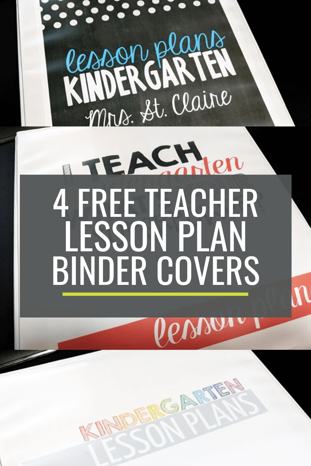 4 Free Teacher Lesson Planning Binder Covers