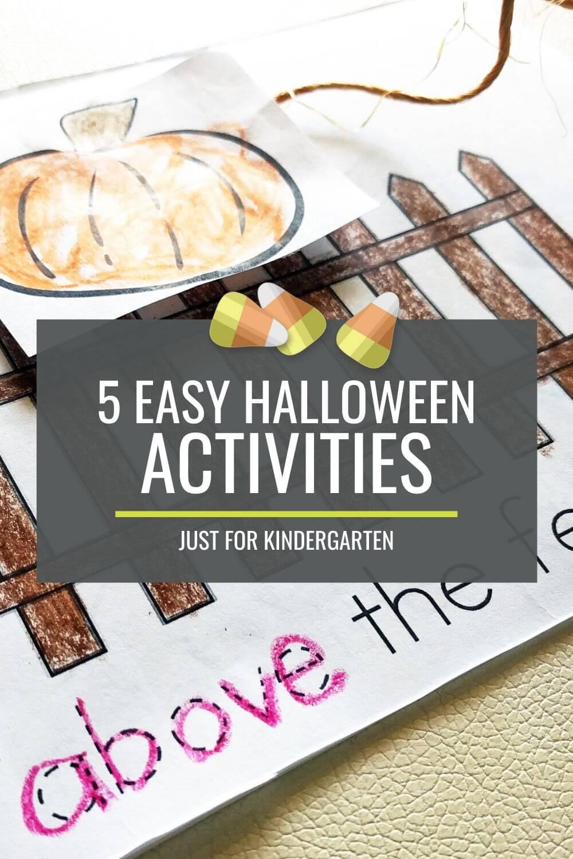 5 Easy Halloween Activities for Kindergarten