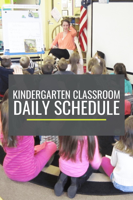 Kindergarten Classroom Daily Schedule