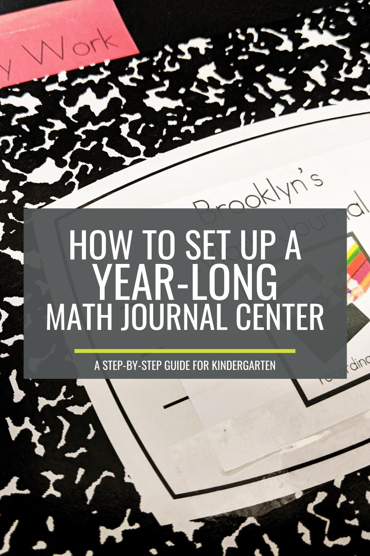 How to Set Up a Year-Long Math Journal Center