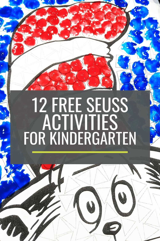 12 Free Dr. Seuss Activities for Kindergarten